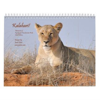 Kalahari! Calendar Mammals of Kgalagadi