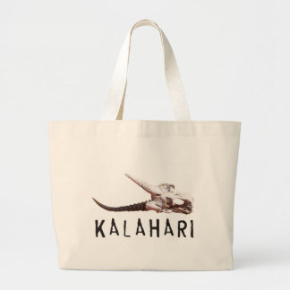Kalahari desert in Africa: Dead antelope skull Bags
