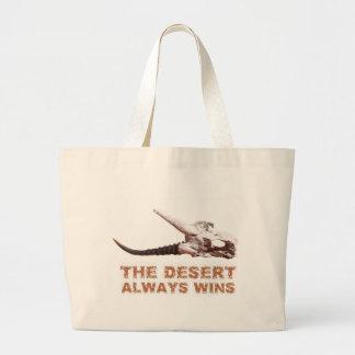 Kalahari desert in Africa: Dead antelope skull Large Tote Bag