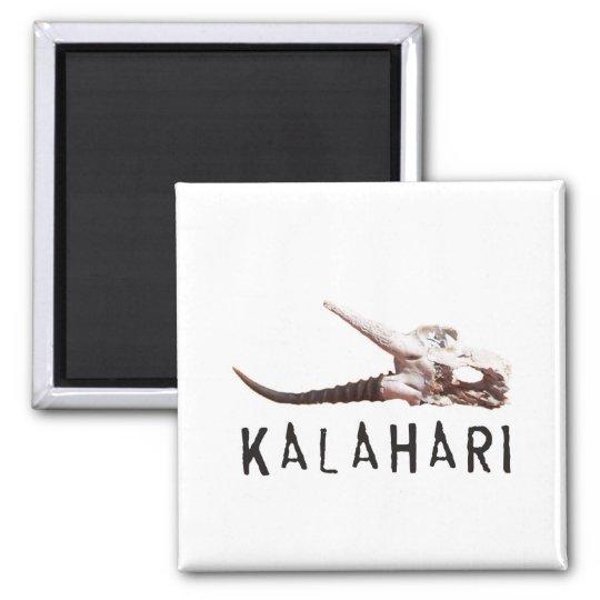 Kalahari desert in Africa: Dead antelope skull Square Magnet