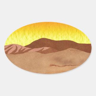 Kalahari Desert Oval Sticker