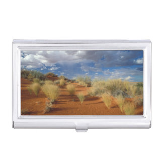 Kalahari Desert Scene, Kgalagadi Transfrontier 2 Business Card Holder