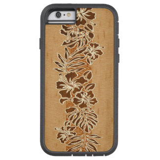 Kalaheo Hawaiian Hibiscus Tapa Faux Koa Wood Tough Xtreme iPhone 6 Case