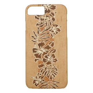 Kalaheo Hawaiian Hibiscus Tapa Faux Wood iPhone 8/7 Case