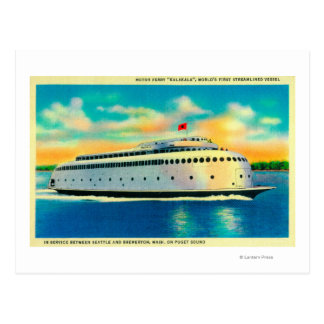 Kalakala Ferry, World's First Streamlined Postcard