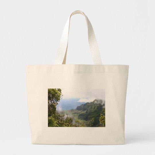 Kalalau Lookout design Large Tote Bag