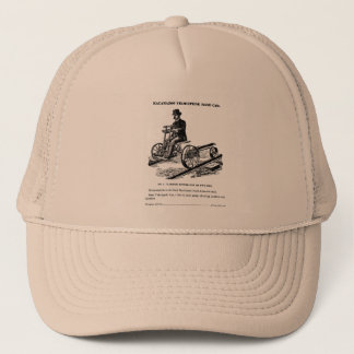 KALAMAZOO Velocipede Railroad Hand Car 1887 Trucker Hat