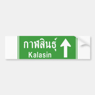 Kalasin Ahead ⚠ Thai Highway Traffic Sign ⚠ Bumper Sticker