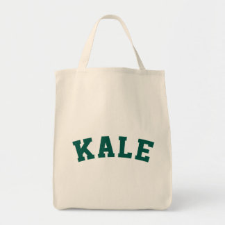 Kale Funny Vegan Style Grocery Tote Bag