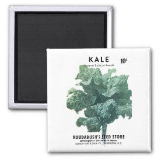 Kale, Roudabush's Seed Store Square Magnet