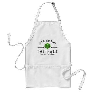 Kale Vegetarian Live Breathe Eat Kale Custom Standard Apron