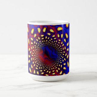 KaleidoBerries Psychedelic Fused Glass Fractal Basic White Mug