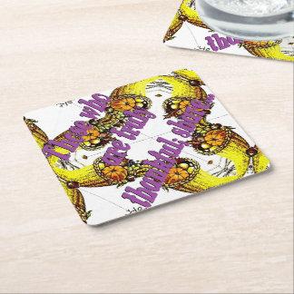 Kaleidocopia Square Paper Coaster