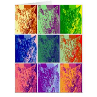 Kaleidokitty Blank Full-Color Big Greeting Card