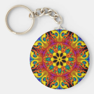 Kaleidoscope 1 basic round button key ring