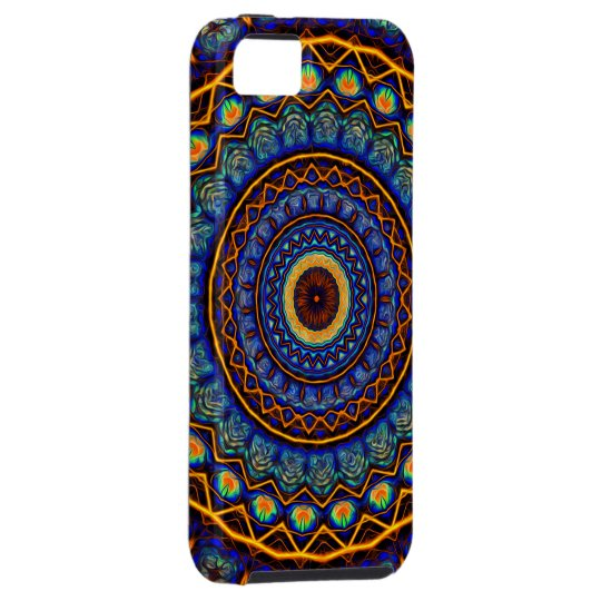 Kaleidoscope 4 abstract stained glass tough iPhone 5 case