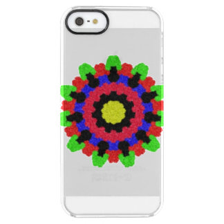 Kaleidoscope abstract colorful pattern clear iPhone SE/5/5s case