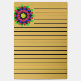 Kaleidoscope abstract colorful pattern post-it notes