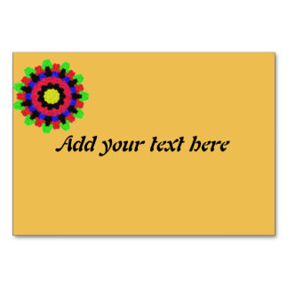 Kaleidoscope abstract colorful pattern table card