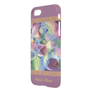 Kaleidoscope - Abstract in Watercolor Your Name iPhone 8/7 Case