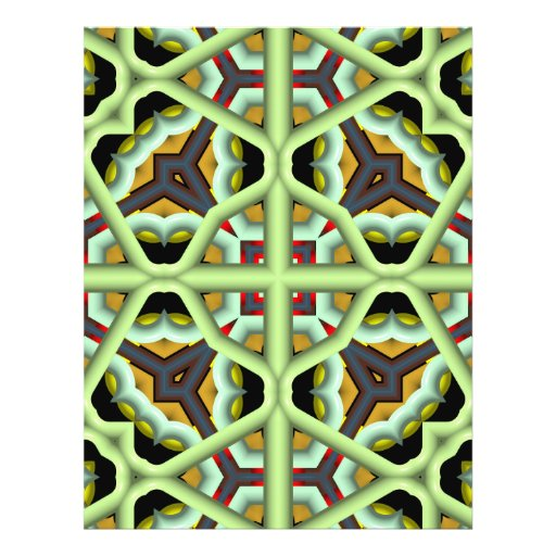 Kaleidoscope Abstract Multicolored Pattern Full Color Flyer