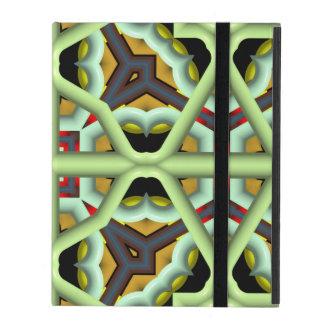 Kaleidoscope Abstract Multicolored Pattern iPad Folio Case