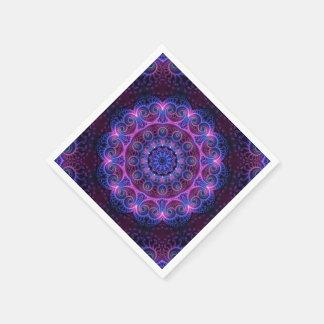 Kaleidoscope Apophysis Mandala Hearts Disposable Napkins
