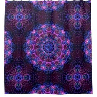 Kaleidoscope Apophysis Mandala Hearts Shower Curtain