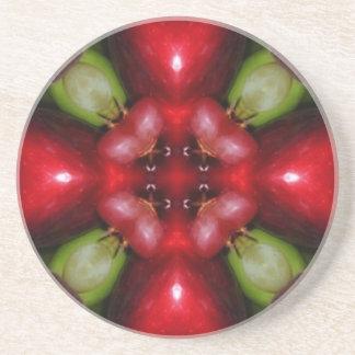 Kaleidoscope apples and grapes.jpg beverage coaster