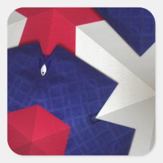 Kaleidoscope Art Square Sticker