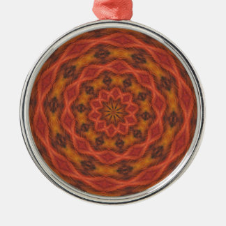 Kaleidoscope Autumn Colors Silver-Colored Round Decoration