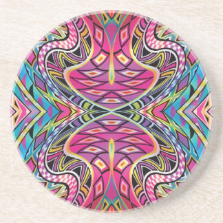Kaleidoscope Aztec inspired pattern Coaster