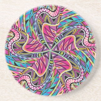 Kaleidoscope Aztec inspired pattern Coaster