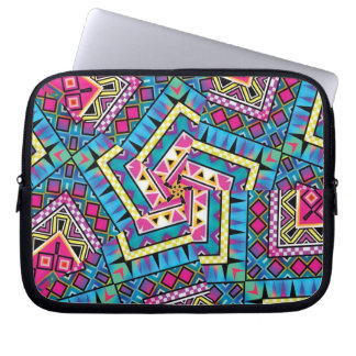 Kaleidoscope Aztec inspired pattern Laptop Sleeve