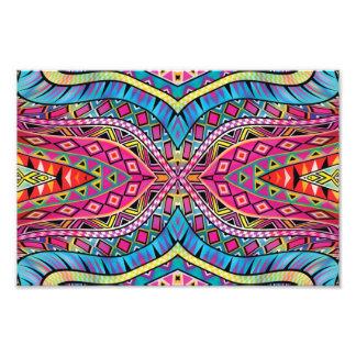 Kaleidoscope Aztec inspired pattern Photograph