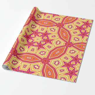 Kaleidoscope background wrapping paper