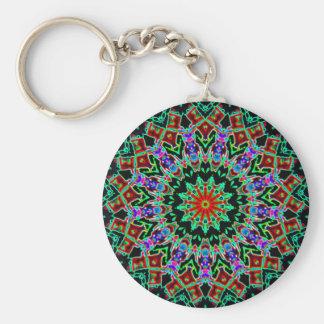Kaleidoscope Basic Round Button Key Ring