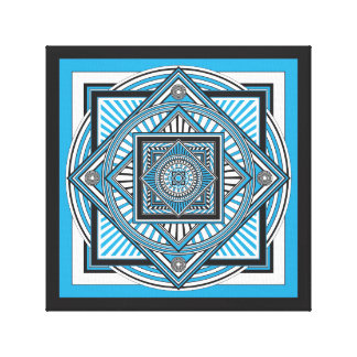 Kaleidoscope BLUE Canvas Print