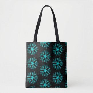Kaleidoscope Blue Flower Tote Bag
