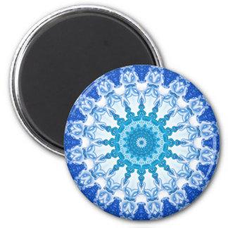 Kaleidoscope Blue Ice Magnet