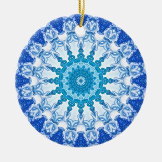 Kaleidoscope Blue Ice Round Ceramic Decoration