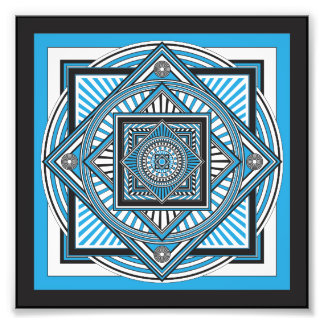 Kaleidoscope BLUE Photo Print