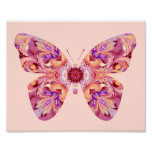 Kaleidoscope Butterfly Poster