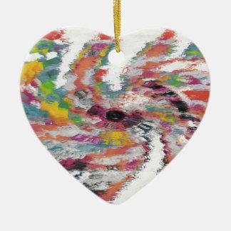 Kaleidoscope Ceramic Heart Decoration