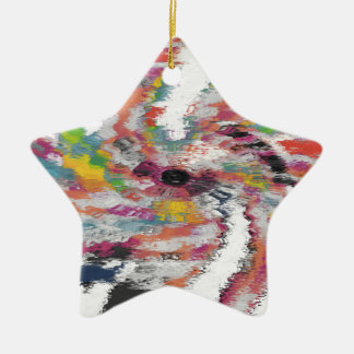 Kaleidoscope Ceramic Star Decoration