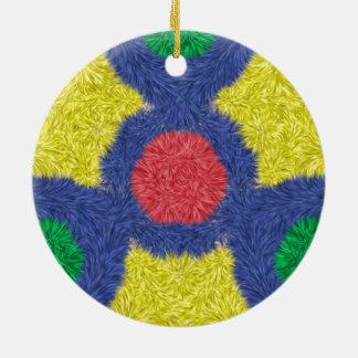 Kaleidoscope colorful furry christmas tree ornaments