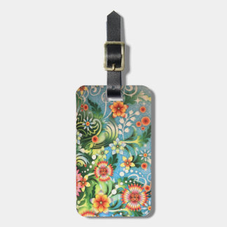 Kaleidoscope colors luggage tag