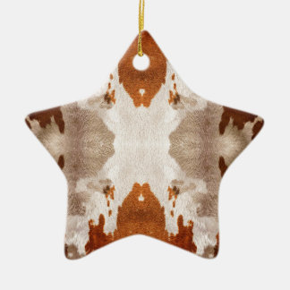 Kaleidoscope Cow Hide Pattern Christmas Ornament