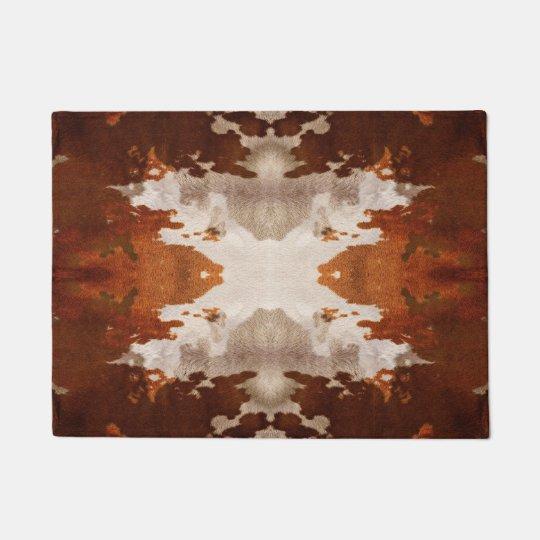 Kaleidoscope Cow Hide Pattern Doormat