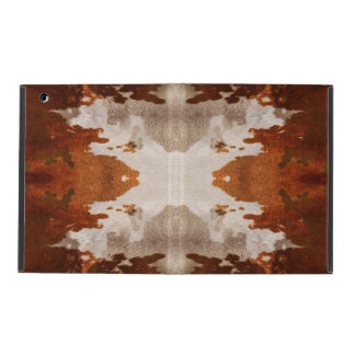 Kaleidoscope cow hide pattern iPad folio case